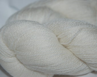 Studio June Yarn Cashmere Lace - 100% Cashmere, Color: Undyed/Natural