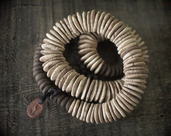 Artisan Necklace with ceramic hand-pressed beads