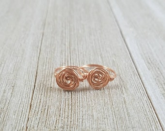 Rose Ring in Copper