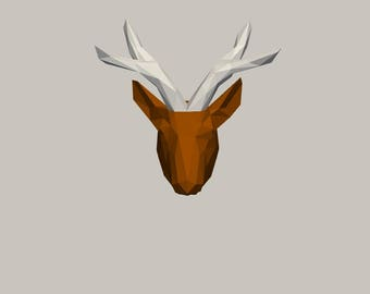 DIY Deer Head 3D Paper