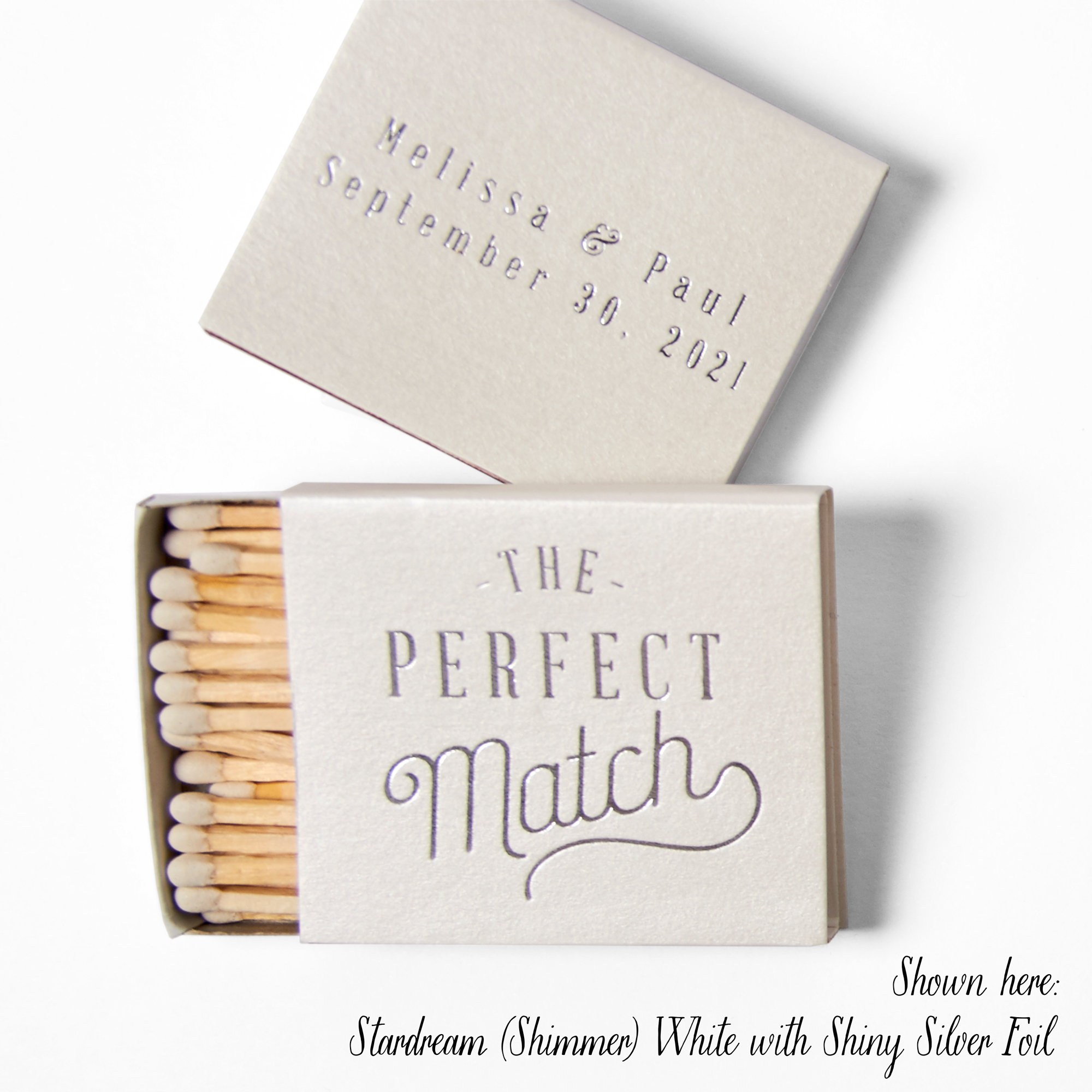 THE PERFECT MATCH Matchboxes Wedding Favors Wedding