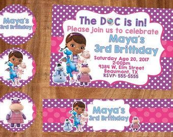 18 dr mcstuffins invitation also  tags label party birthday english or spanish