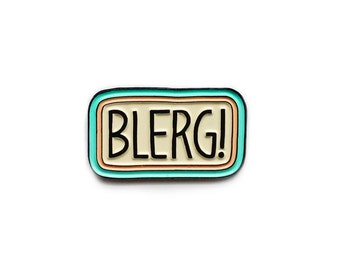 Blerg 30 Rock Liz Lemon enamel lapel pin