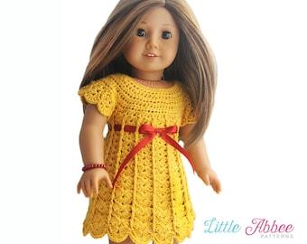 """Download Now - CROCHET PATTERN 18"""" Doll Sweater Dress PDF 105"""