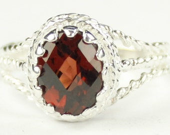 Mozambique Garnet, 925 Sterling Silver Ladies Ring, SR070