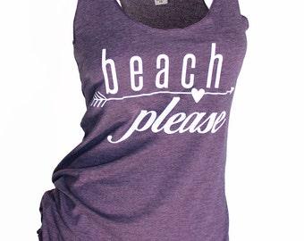 beach please tank. beach please shirt. beach tank. womens tops and tees. swimsuit coverup. beach outfit. lake tank top. beach life. tank top