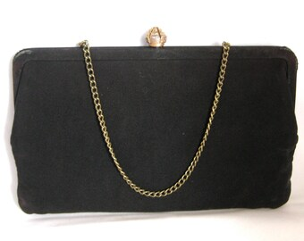 Vintage Black Purse with Chain