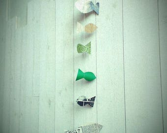 Garland 0.9 m paper fish shapes