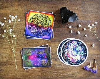 "3"" Vinyl Sticker - Intuitive Mandala Artwork - Visionary Abstract Art"