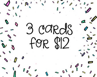 Any 3 for 12 Cards Bulk, Card Set, Card Pack, Mix and Match Cards, Greeting Cards Packs, Card Deals, Custom Card Set