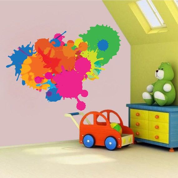 Color Decal Splash Wall Paint