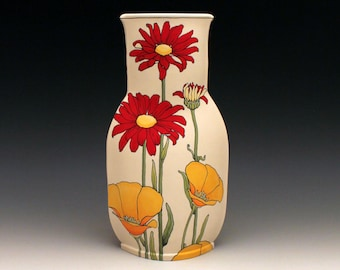 Poppy  and Daisy Vase