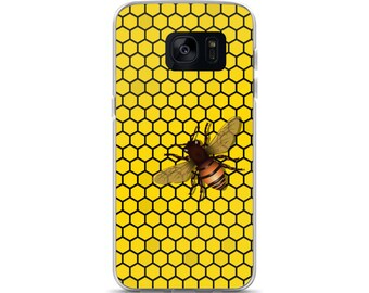 Honeycomb & Honey Bee Cell Phone Samsung Galaxy S7, S8, S8+, S7 Edge Case Honeybee Save the Bees