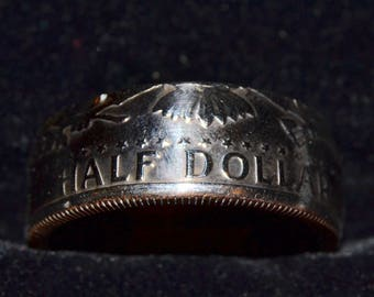 CUSTOM Half Dollar Coin Rings