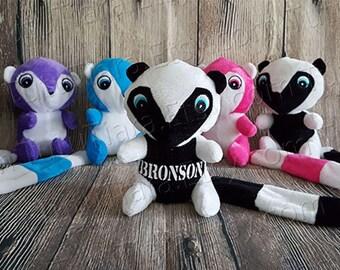 Lemur Plüsch mit Namen, individuelle personalisierte Stofftier für Valentinstag, Geburtstage, Ostern, Weihnachtsgeschenk, Strumpf Stuffer