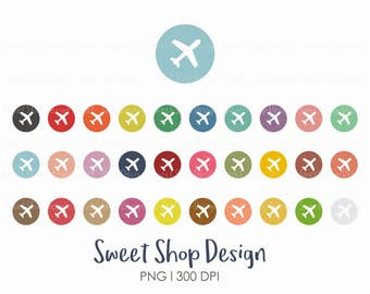 Airplane Clip Art, Plane Clip Art, Plane Icon, Planner Stickers, PC1, Royalty Free Clip Art, Instant Download