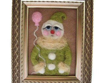 Vintage Snowman - Whimsical Snowman - Christmas Decor - Pastel Colors - Ready to Ship