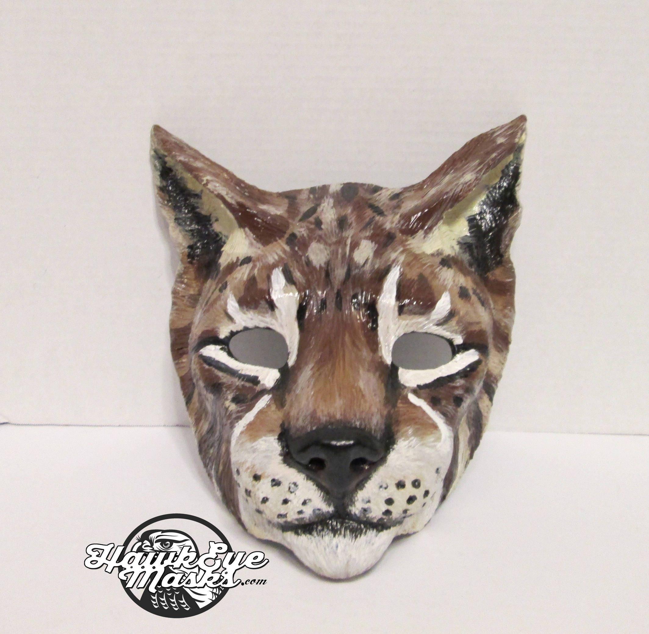 Luchs Katze Maske Wildkatze Raubkatze Geist maßgeschneiderte