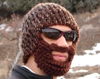 brown tweed bearded lumberjack hat