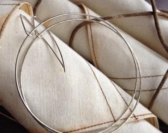 Silver Endless Hoops-Sterling Silver Thin Hoop Earrings-Endlessly Bohemian