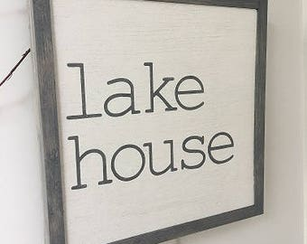 Farmhouse Fixer Upper Style Sign | Lake House Sign | Lake Sign | Nautical | Wood Sign | Lake Decor | Lake Home | Beach | Wall Art | 1'x1'