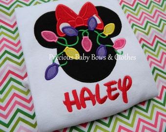 Girl or Boy Minnie Mickey Christmas Lights, Disney Christmas Shirt, Magical Christmas, Christmas Family Shirts