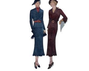 30s Wardrobe Downton Abbey vintage pattern 34-28-37 Dress pattern Skirt pattern and Blouse pattern Simplicity 1844