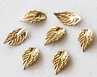 2167 Gold Pendant 18x10 mm Leaves pendant Golden pendant Metal findings Pendant for jewelry Jewelry component Metal leaf Pendant 60 pcs