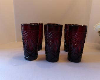 Cris d'Arques Durand Ruby Red Glasses (Set of 6)