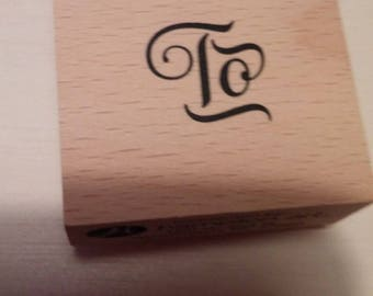Retired Rubber Stamp   -    To