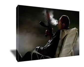 FREE SHIPPING Tony Soprano Cigar Ak-47 Bear Watch Canvas Art