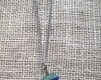 Sand Dollar stacked seaglass necklace