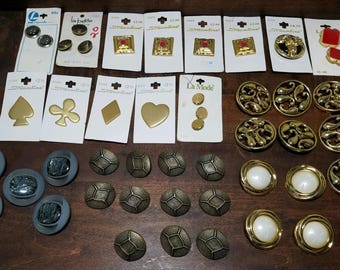 Lot of Buttons / Mix / Metal / Plastic