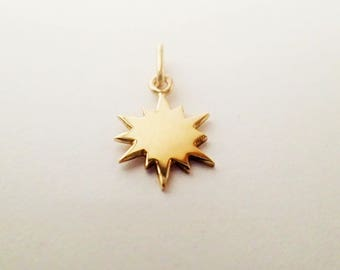 pendant north star solid GOLD