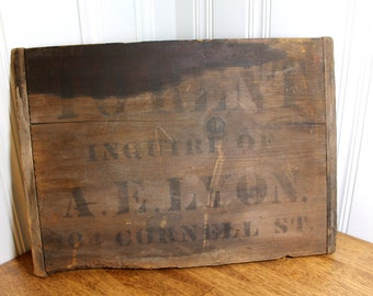 Early 1900s Antique Bread Board Repurposed as FOR RENT Sign O'CONNELL St Massachusetts