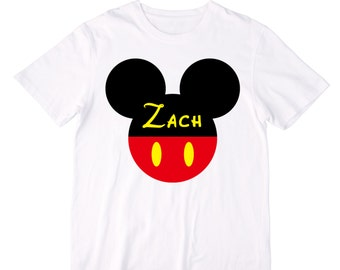 Personalized Mouse Ears Shirt or Bodysuit - Personalized with ANY Name
