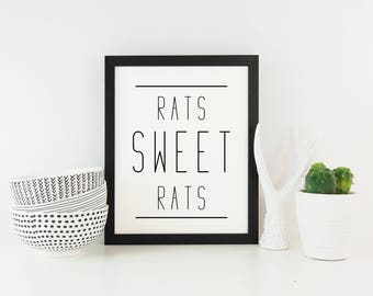 Rats Sweet Rats - Digital print, wall art, Game of Thrones
