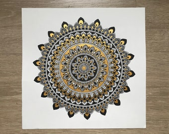 Black and gold mandala 2