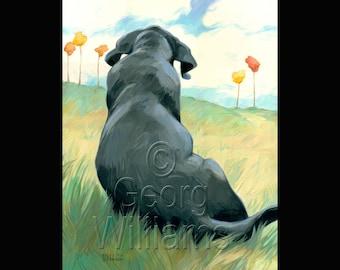 "Pet Portrait Giclee Print ""Lazy Day"""