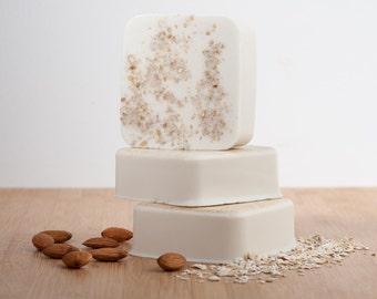 Almond Oatmeal Soap, oatmeal soap, almond soap, shea butter soap, All Natural Soap, Bar Soap