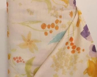 Fuccra Rakuen Nani Iro Double Gauze Fabric by the Yard, Kokka Fabric, Imported Japanese Fabric, Large Scale Floral Fabric, Apparel Sewing