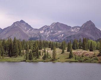 Mountain Photography,Colorado Landscape Photography, Home Decor, Colorado Art, Water, Lake, Rocky Mountains, Purple, Nature - The Needles