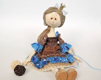Textile doll-fabric artist doll-ooak art doll-cloth doll handmade- boho eco doll-unique handcrafted doll-interior doll-collectors doll