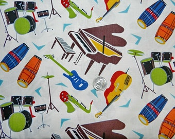 All That Jazz by Hoodie - Fabric By The Half Yard 18 inches x 44 inches