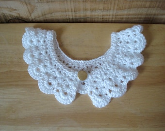 Crochet collar - white * Handmade * Lace collar * Crochet necklace * Vintage collar *