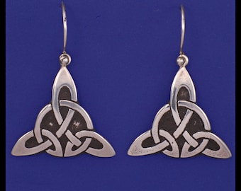 Celtic Triquetra Knot- Earrings- Sterling Silver