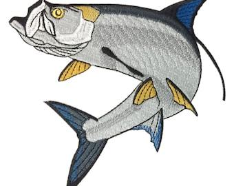 Tarpon Fish Embroidery Design