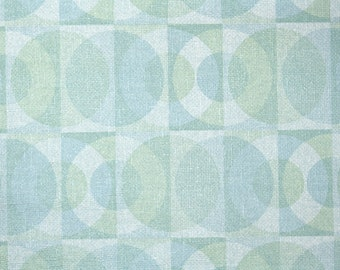 Retro Wallpaper by the Yard 70s Vintage Wallpaper - 1970s Blue and Green Mod Circles Geometric