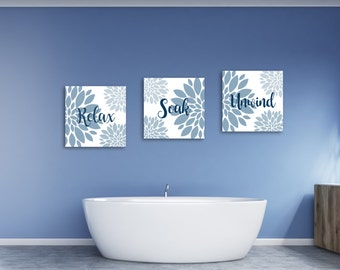Relax Soak Unwind, Relax Print Sign, Relaxing Art, Relax Wall Art, Relax Poster, Custom Size Wall Art