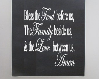 Bless the Food before us wall plaque.